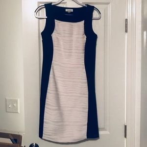 Calvin Klein size 4 dress black white
